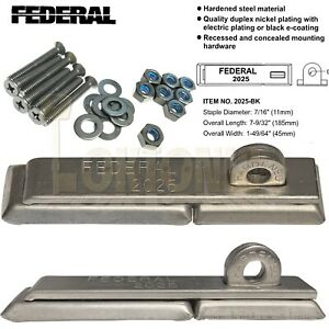 Federal FD2025 Security Hardened Steel Hasp and Staple Vans Gates Sheds Garages