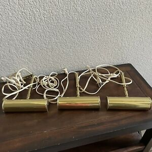 """Vintage HOUSE OF TROY Traditional Picture Light Polished Brass Adjustable 7"""" MCM"""
