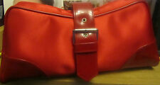 100% Genuine CDior Parfums Large Pretty Red Clutch Vanity /Makeup Bag