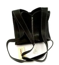 Inge Christopher Black Leather Purse Bag - VINTAGE - NEW WITH TAGS