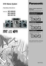 Panasonic SA-VK71D SA-VK81D SA-VK91D DVD System Owners Instruction Manual