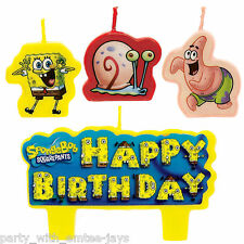 Spongebob Candles - Birthday - Moulded - Aust Seller - Nickelodeon Party Candle
