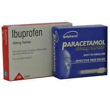 Paracetamol 32 x 500mg & Ibuprofen 64 x 200mg - Pain Relief Headache Backache