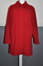 Menuetto Women's Red Winter Coat 70% Wool UK 14