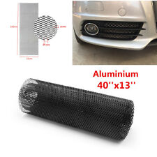40''x13'' Black Aluminum Car Hexagonal Soft Grille Mesh Grill Can Be Cutted DIY