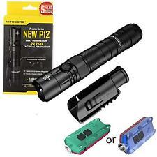 Value Bundle: Nitecore NEW P12 Tactical LED Flashlight - 1200 Lumens w/TIP Winte