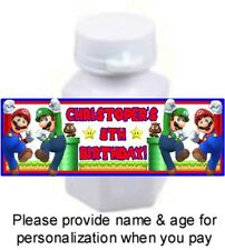 30 Super Mario Brothers Birthday Party Bubble Labels Stickers Labels Bros Favors