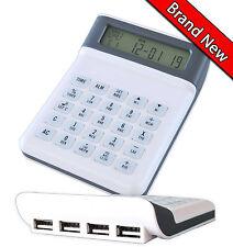 Metro Calculator 4Port USB Hub World Alarm Clock Calendar Timer Desktop Handheld