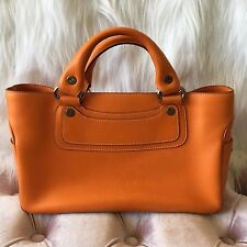 CELINE Leather Boogie Bag Orange