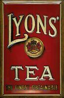Lyons Tea Motiv 2 Blechschild Schild 3D geprägt gewölbt Tin Sign 20 x 30 cm