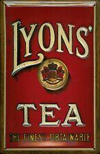 Lyons Tea Motif 2 Metal Sign Signboard 3D embossed arched Tin Sign 20 x 30 cm