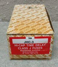 BUSSMAN JHC-3 (LOT OF 10) 3 AMP 600 VOLT CLASS J TIME DELAY CURRENT LIMITING