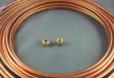 "5/16"" x 5 M SOFT COPPER PIPE COIL & 2 5/16"" FLARE NUTS  WATER  AIR CONDITIONER"