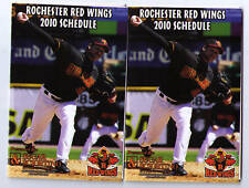 2010 Rochester Red Wings pocket schedules calendars TWO