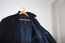 Beau Manteau 3/4 Style Caban Bleu Marque FELLICI en Laine.TBE. Taille 54 (XL)