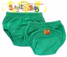 Bright Bots Washable Potty Training Pants (2pk, Green, Small, 12-18 months)