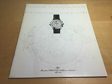 Booklet IWC Schaffhausen - Big Complication - The Large Complication of IWC