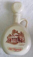 Vintage Old Fitzgerald Glass Bottle - Kentucky Bourbon Whiskey -1962