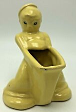 Rare Weller Pottery Cactus Line Novelty Planter Asian Man Boy Chinese Risqué