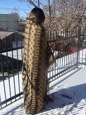 #2227 Soft Fair Trade Classic Brush Alpaca Brown Tan Blanket Reversible Throw
