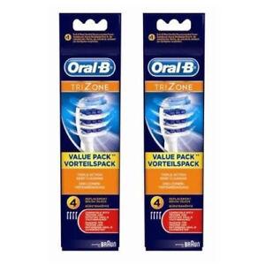 8x Oral B Braun Trizone Tri zone Aufsteckbürsten Ersatz NEU