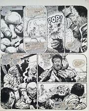 ORIGINAL ART Carlos Ezquerra. 2000AD: Prog 275 (1982) Judge Dredd - Fungus