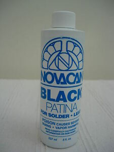 Stained Glass Supplies - Novacan Black it Patina - Large Size 237ml