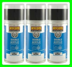 * Pack of 3 * Ford Panther Black (Pearl) Acrylic Spray Paint 150 ml [XDFD414] D