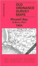 OLD ORDNANCE SURVEY MAP RHOSSILI BAY BURRY PORT PEMBREY REYNOLDSTON 1904