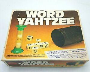 Wort Yahtzee Von Milton Bradley Vintage 1978 Wort & Würfel Spiel - Komplett