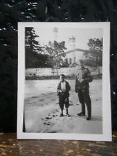 Photo argentique guerre 39 45 soldat Allemand wehrmacht WWII 2 avec enfant