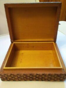 HANDMADE Vintage silver metal trinketmakeup box marked /& lined with cedar wood. numbered