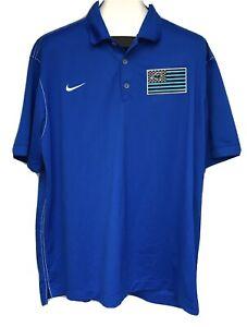 Carolina Panthers Nike Dri Fit Golf Polo American Flag NFL NWT 2015 XXL