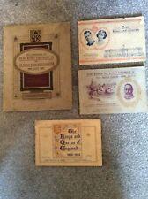 More details for vintage set of 4 john player cigarette card booklets – royalty