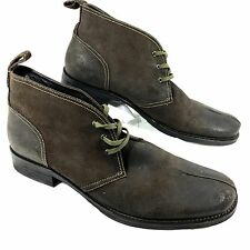 Men's Gordon Rush ELLIOT lace up Brown leather Ankle Boots Sz 13 NEW