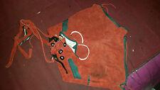 TRUE VINTAGE SOFT LEATHER/ SUEDE EDELWEISS LEDERHOSEN SHORTS RED 24 WAIST