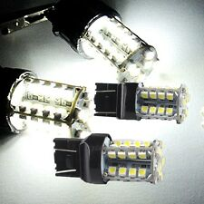 2x T20 7443 580 W21/5W SMD LED DRL Daytime Running Light Bulbs White