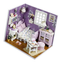 Miniature Dollhouse Kit Decorations with Lights & Furnitures DIY House Craft