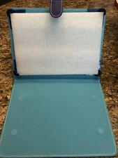 Blue Fold over Leather iPad/Tablet Case.Universal/Fit-All Tablets And iPads.Blue