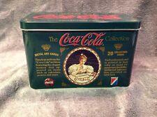 Coca-Cola Tin 20 METAL ART COLLECTOR CARDS Timeless Advertising Art 1994
