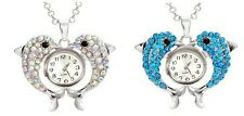 Crystal Dolphin Necklace Pendant Watch 18mm Snap In Watch