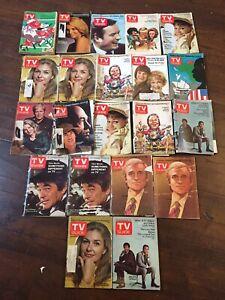 21 Vintage TV GUIDE LOT 1967-1977 Sally Field Dick Cavett Joanne Woodward