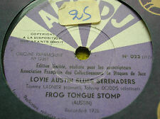 78 rpm- LOVIE AUSTIN BLUES SERENADERS - Frog tongue stomp -  AFCDJ A 023