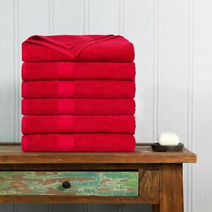 6 Pack Towels Cotton Hand Towels 18 by 28-Inch Pack of 6 by Ample Decor