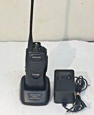 Kenwood UHF TK-3200 Two Way Radio W/ Charging Cradle and Adapter AS-IS
