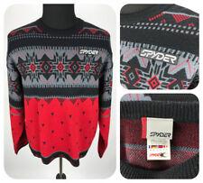 SPYDER Pullover Sweater Aztec Pattern Wool Blend Ski Crew Neck