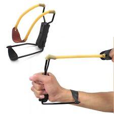 Powerful Folding Wrist Sling Shot Slingshot High Velocity Brace Hunting Catapult