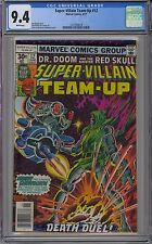 Super-Villian Team-Up #12 CGC 9.4 NM Wp Marvel Comics 1977 Dr Doom Vs. Red Skull