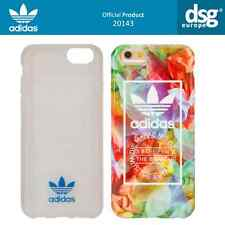 OFFICIAL Premium adidas Female Blumenmuster TPU Back Case For iPhone 6, 6s white
