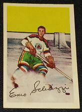 """1952-1953 PARKHURST ENIO SCLISIZZI CHICAGO BLACKHAWKS """"ROOKIE"""" HOCKEY CARD #32"""